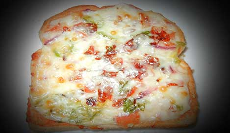 Bread Pizza Recipe in Hindi